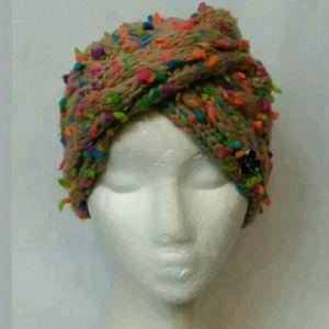 Betsey Johnson Knit Turban Beanie Cap Hat